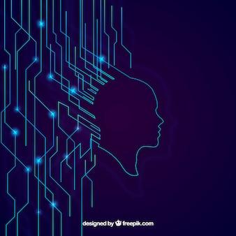 Fondo de inteligencia artificial en estilo abstracto