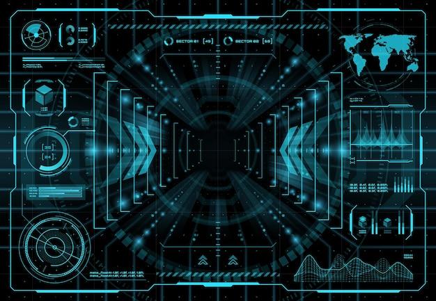 Fondo de la interfaz del portal de teletransportación hud