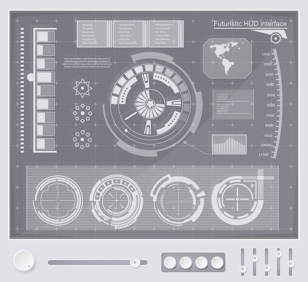 Fondo de interfaz de tecnología futurista hud ui.