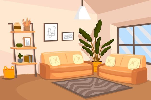 Fondo interior de casa para videoconferencia