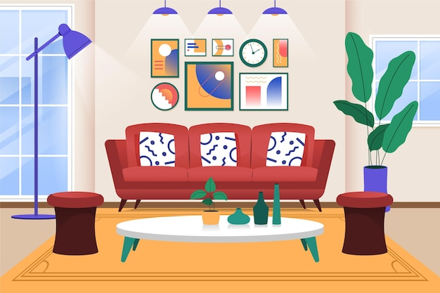 Fondo interior de casa