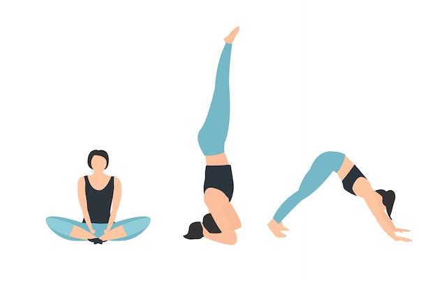 Fondo internacional de yoga. ilustración