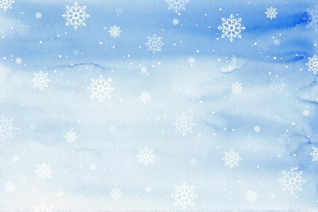 Fondo de invierno acuarela