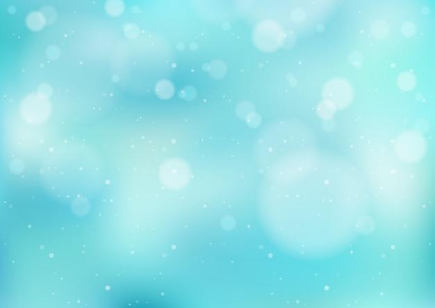 Fondo de invierno azul claro con nevadas