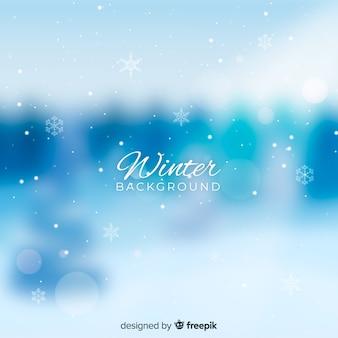 Fondo de invierno borroso