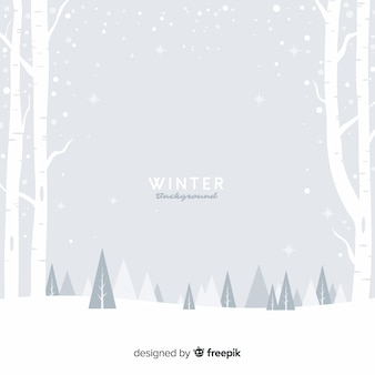 Fondo invierno campo nevado