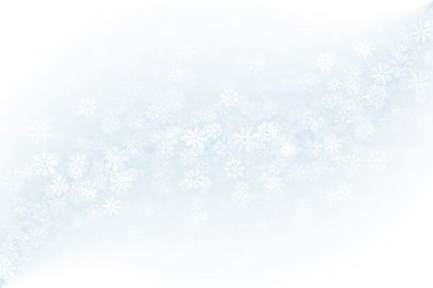 Fondo de invierno claro en blanco