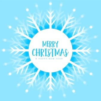 Fondo de invierno de decoración de copos de nieve de navidad azul