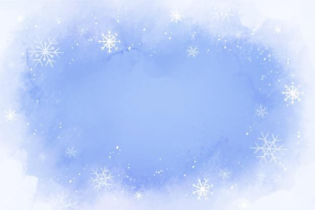 Fondo de invierno de diseño acuarela