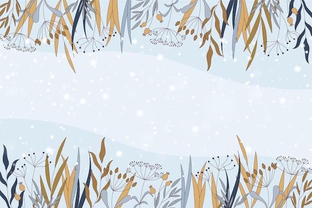 Fondo de invierno con espacio vacío