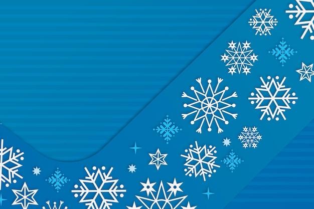 Fondo de invierno en estilo papel