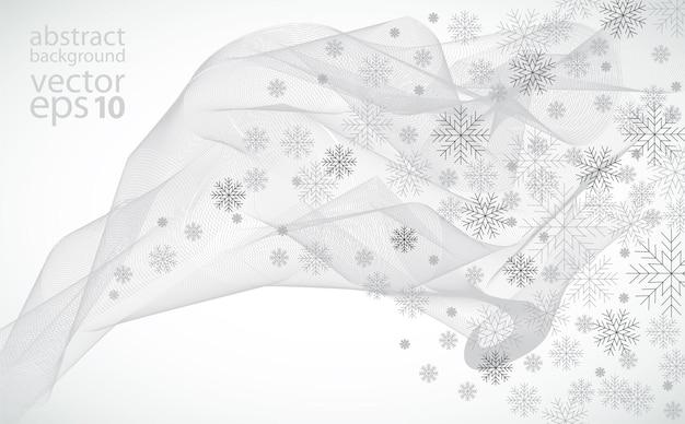 Fondo de invierno, ilustración vectorial