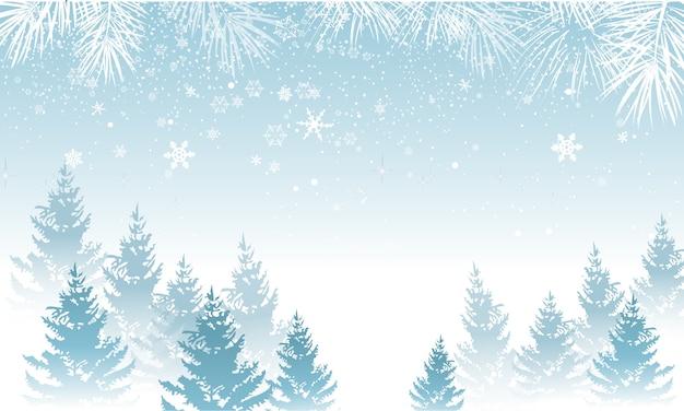 Fondo de invierno con nieve