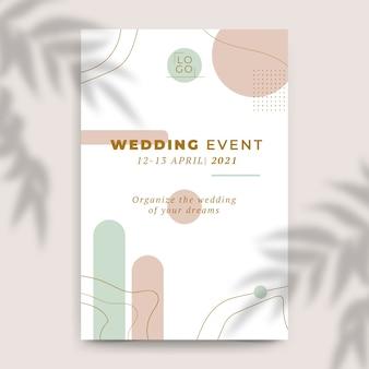 Fondo de invitación de boda