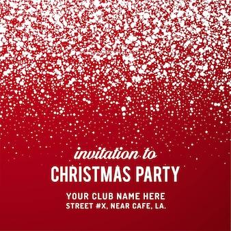 Fondo de invitación fiesta de navidad feliz