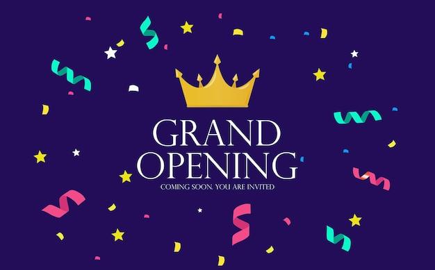 Fondo de invitación de lujo de gran inauguración