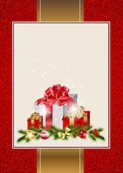 Fondo de invitación de navidad y año nuevo de belleza abstracta. ilustración vectorial