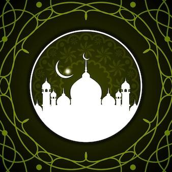 Fondo islámico de color verde