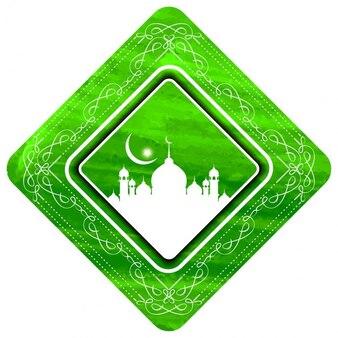 Fondo islámico con marco floral