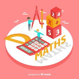 Fondo isométrico concepto matemáticas