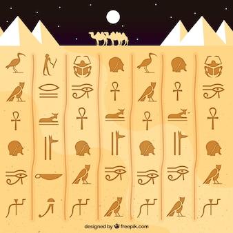 Fondo jeroglífico de egipto