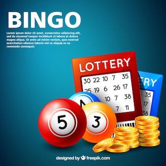 Fondo de juego del bingo