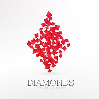 Fondo de juego de cartas de diamante