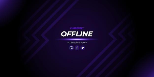 Fondo de juego fuera de línea de twitch púrpura abstracto