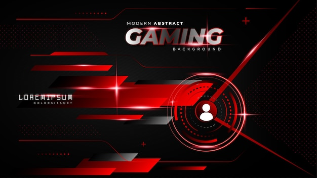 Fondo de juego futurista rojo abstracto para transmisión de twitch sin conexión