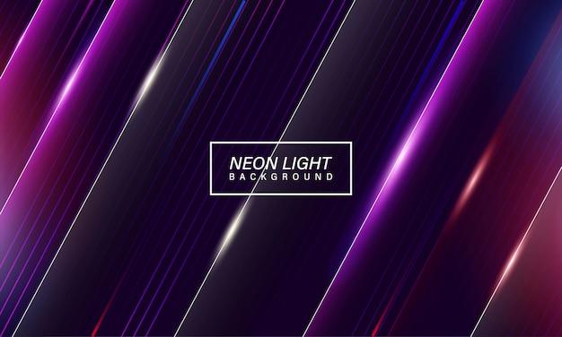 Fondo de juego de luz de neón abstracto colorido