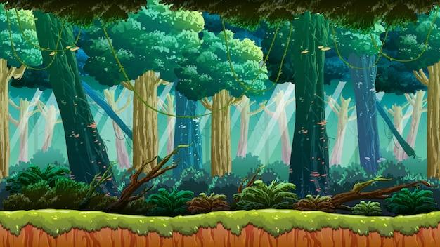 Fondo del juego de la selva