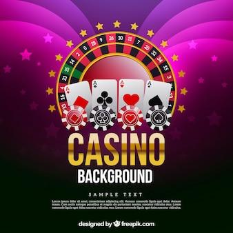 Fondo con juegos de casino