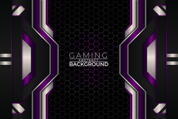 Fondo de juegos futurista estilo púrpura