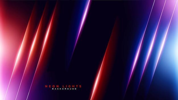 Fondo de juegos de luz de neón abstracto