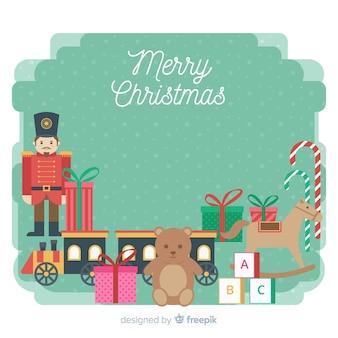 Fondo de juguetes de navidad