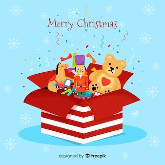 Fondo juguetes navidad