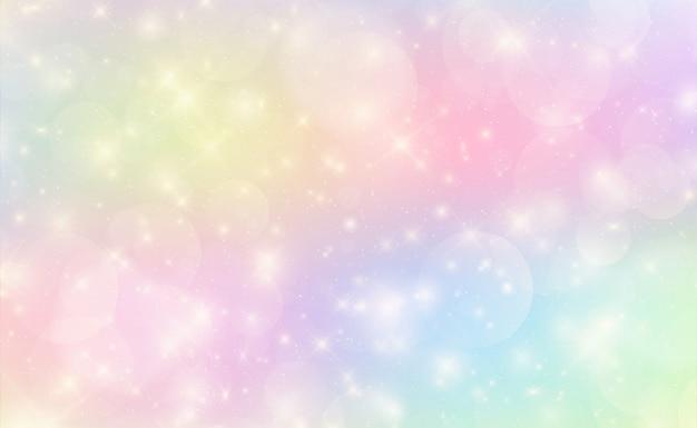 Fondo kawaii con gradiente de princesa del arco iris.