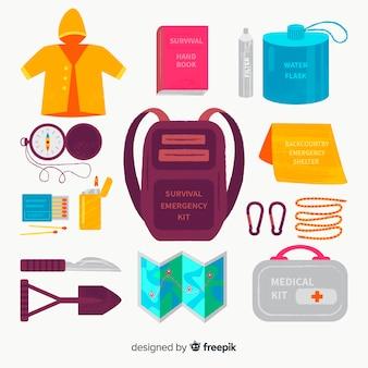 Fondo kit de emergencia de supervivencia