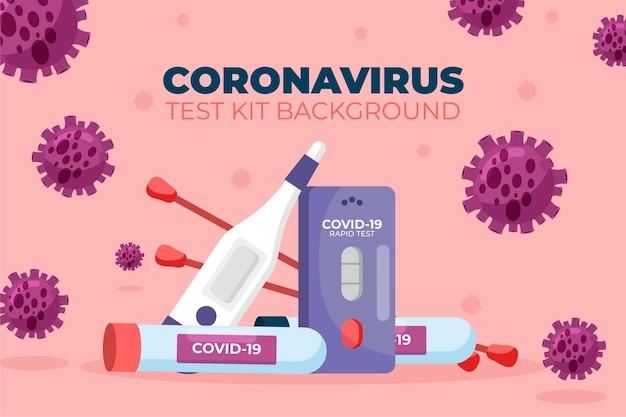 Fondo del kit de prueba de coronavirus