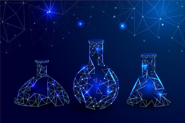 Fondo de laboratorio de ciencia futurista