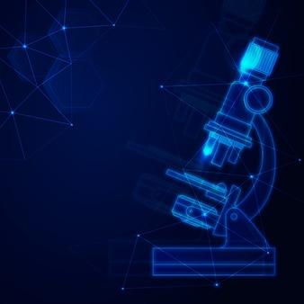 Fondo de laboratorio de ciencias de diseño futurista