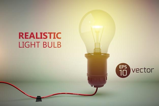 Fondo de lámpara de resplandor con cable