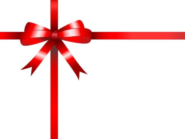 Fondo de lazo de regalo rojo