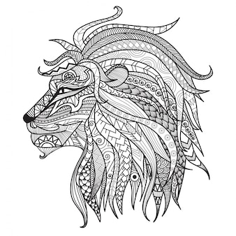 Fondo de león dibujado a mano