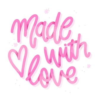 Fondo de letras de boda hecho con amor