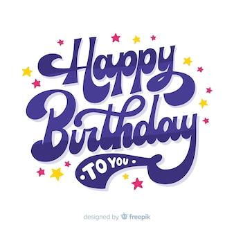 Fondo de letras feliz cumpleaños creativo