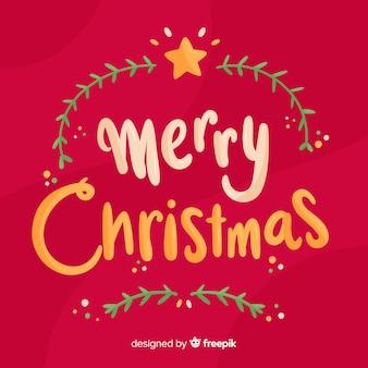 Fondo de letras feliz navidad