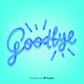Fondo letras goodbye