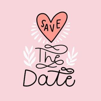 Fondo de letras guardar la fecha
