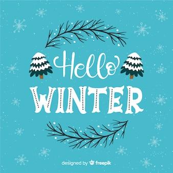 Fondo letras hello winter